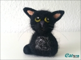 Deko-Kätzchen aus Filz (Teufel)