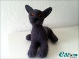 Deko OKH Katze Harmony aus Filz (Unikat)